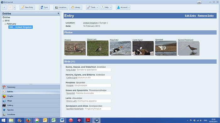 Birding gear reviewed: listing apps - Bird Journal